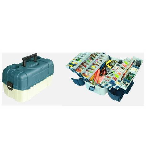 Ящик для снастей 6яр. со съемными перегородками 46*25*24см, фото 2