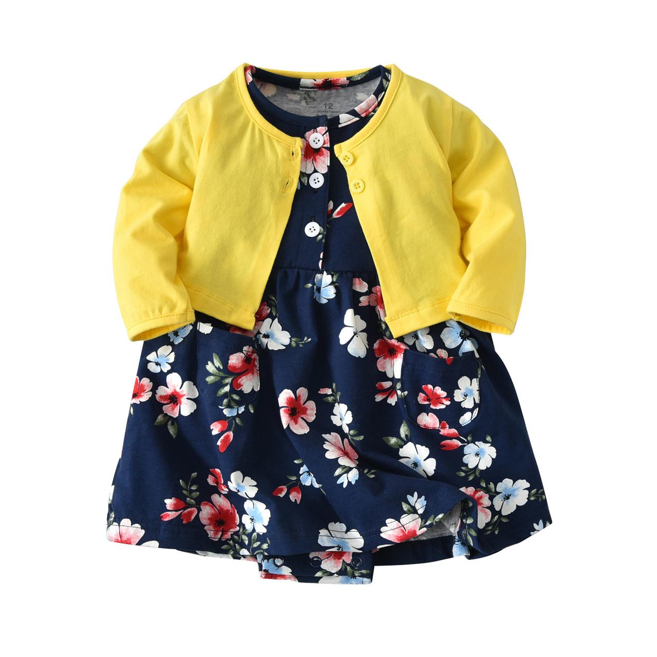 Комплект для девочки 3 в 1 Цветы Berni
