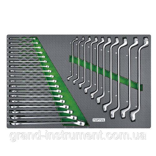 Набор ключей комбинированных и накидных 6-27мм 28ед.(в ложементе, тип D)  TOPTUL GED2813