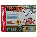 Бензокоса ProCraft T-4350 Original 3 ножа + 1 металлическая катушка. Бензокоса ПроКрафт, фото 7