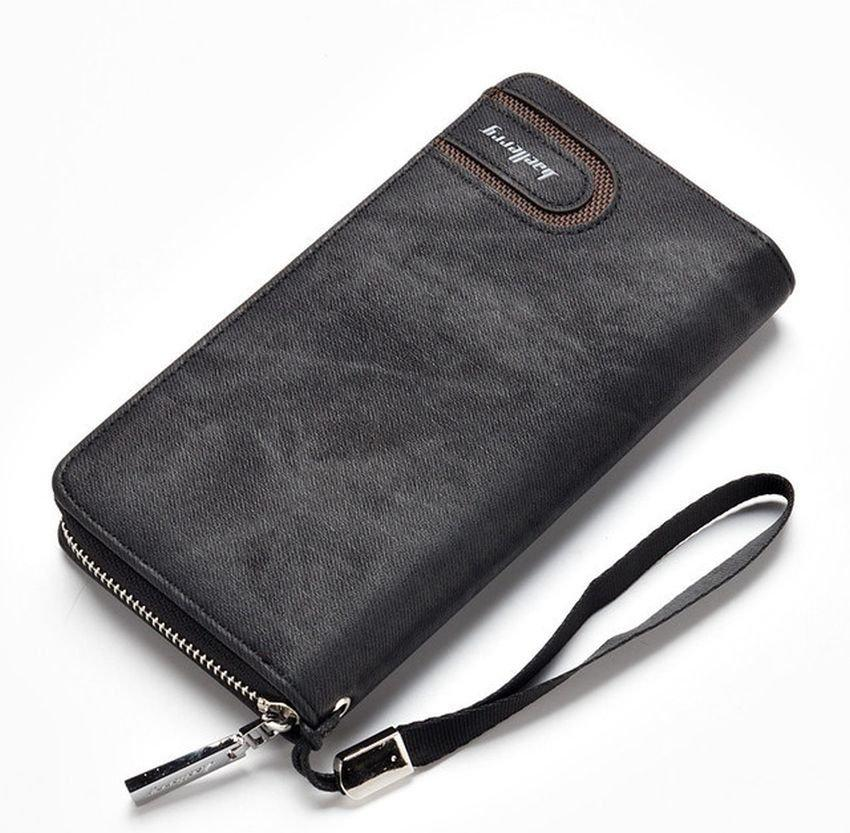 Мужской кошелек клатч портмоне Baellerry s1514, black