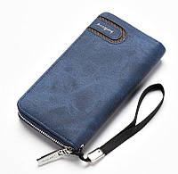 Клатч чоловічий гаманець портмоне Baellerry s1514, dark blue