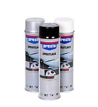Автоэмали PRESTO 500 мл (белая, чёрная, серебристая)