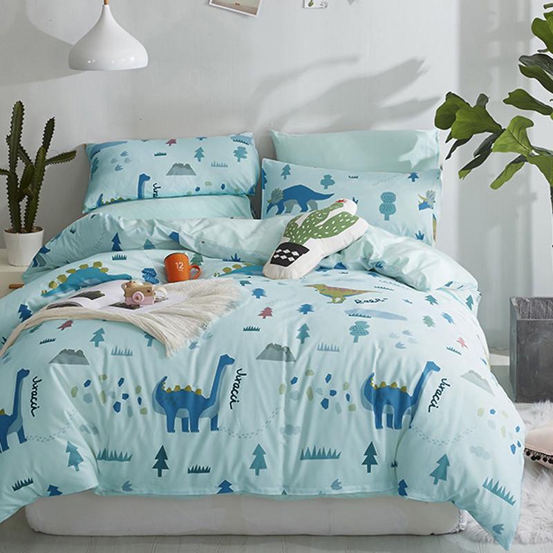 Комплект постельного белья Мир динозавров (двуспальный-евро) Berni