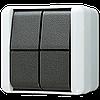 2-х клавішний механізм кнопки без фіксації 10 А / 250 В ~ 839W