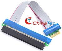 PCI-E 1X to 16X шлейф-удлинитель для видеокарты, фото 1