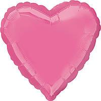 """Фольгированный шар Anagram Сердце 19"""" (48 см) розовое пастель"""