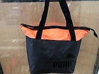 Сумки УНИВЕРСАЛЬНЫЕ для фитнеса Puma (черный+оранж)33*43