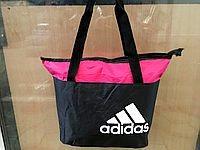 Сумки УНІВЕРСАЛЬНІ для фітнесу Adidas (чорний+троянд)33*43