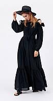 Платье Favorini-21052 белорусский трикотаж, черный, 42