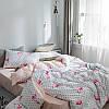 Комплект постельного белья Фламинго с горошком (полуторный) Berni, фото 5