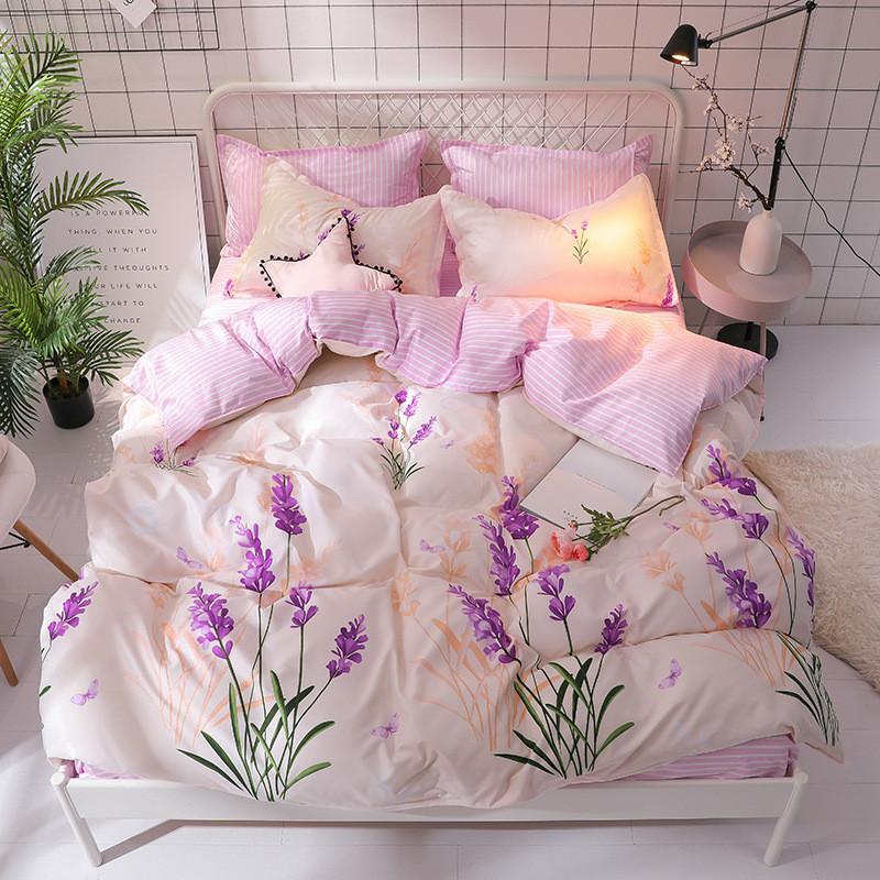 Комплект постельного белья Лаванда (двуспальный-евро) Berni