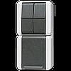 SCHUKO®-розетка 16 A / 250 B ~ с двухклавишным выключателем 10 A / 250 B ~ 875W
