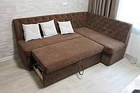 Кухонный мягкий уголок с подушками (Коричневый), фото 1