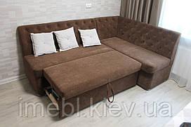 Кухонный мягкий уголок с подушками (Коричневый)