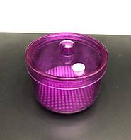 Контейнер с крышкой для стерилизации фрез и насадок, емкость 200 мл. (розовый).
