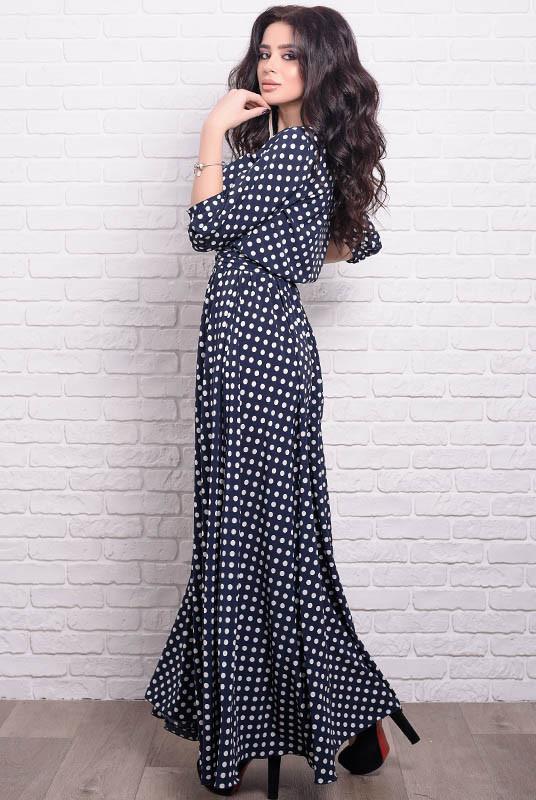 Легкое платье макси Ванесса в горошек