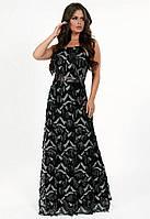 66f95dee1f8 G 2258 Платье вечернее из ткани с бахромой в виде паетки