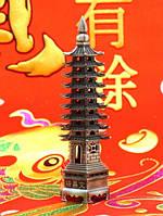 Пагода Фен-Шуй 9 ярусов, в сером цвете (h=13 см.)