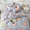 Комплект постельного белья Большие цветы (двуспальный-евро) Berni, фото 6