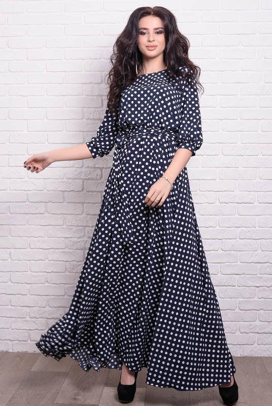 5a85938d5ec Женские платья большого размера Ванесса в горох 840 грн.