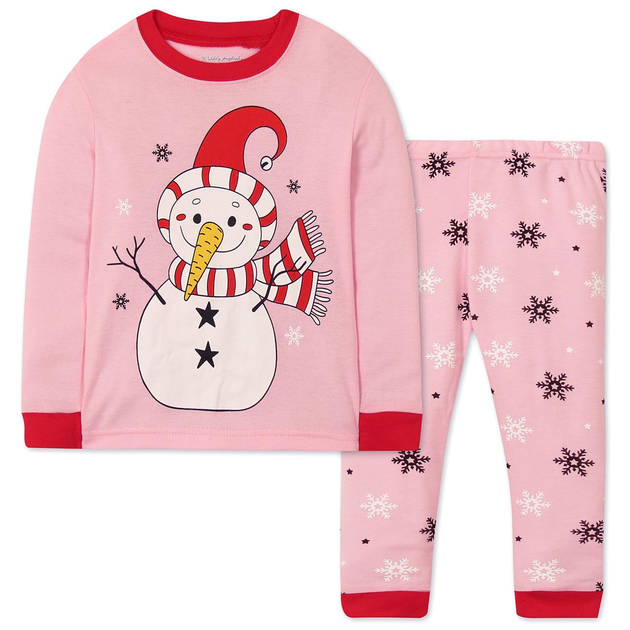 Пижама Снеговик Wibbly pigbaby