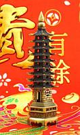 Пагода Фен-Шуй (девяти-ярусная), в бронзовом цвете (h=18 см.)