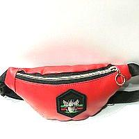 Брендовые сумки на пояс Gucci (красный)13*36см