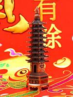 Фен-шуй Пагода 9 ярусов, в медном цвете (h=18 см.)