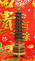 Пагода Фен-Шуй 9 ярусов, в бронзовом цвете (h=22 см.)