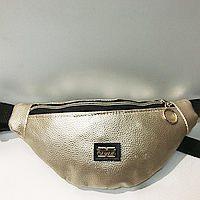 Брендовые сумки на пояс Philip Plein (золото)13*36см