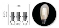 Титановая платформа NeoBiotech Ø 4.0 Hex Ti Link Abutment ISLKH4035NB (титановое основание)