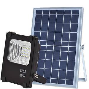 Автономний прожектор LED 10W на сонячній батареї 6000K 420lm IP66 з пультом