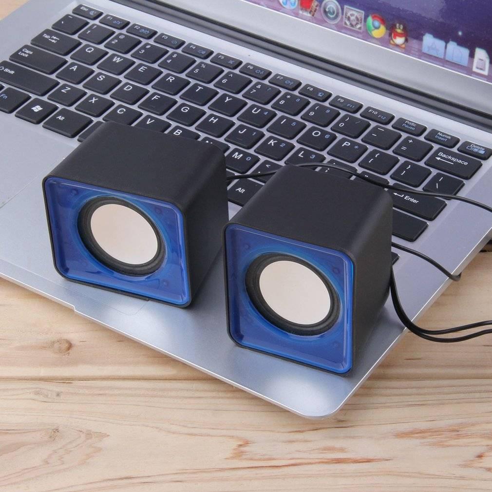Компьютерные USB колонки T001 синий