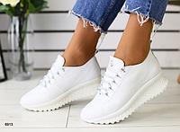 Кроссовки белые из натуральной кожи, фото 1