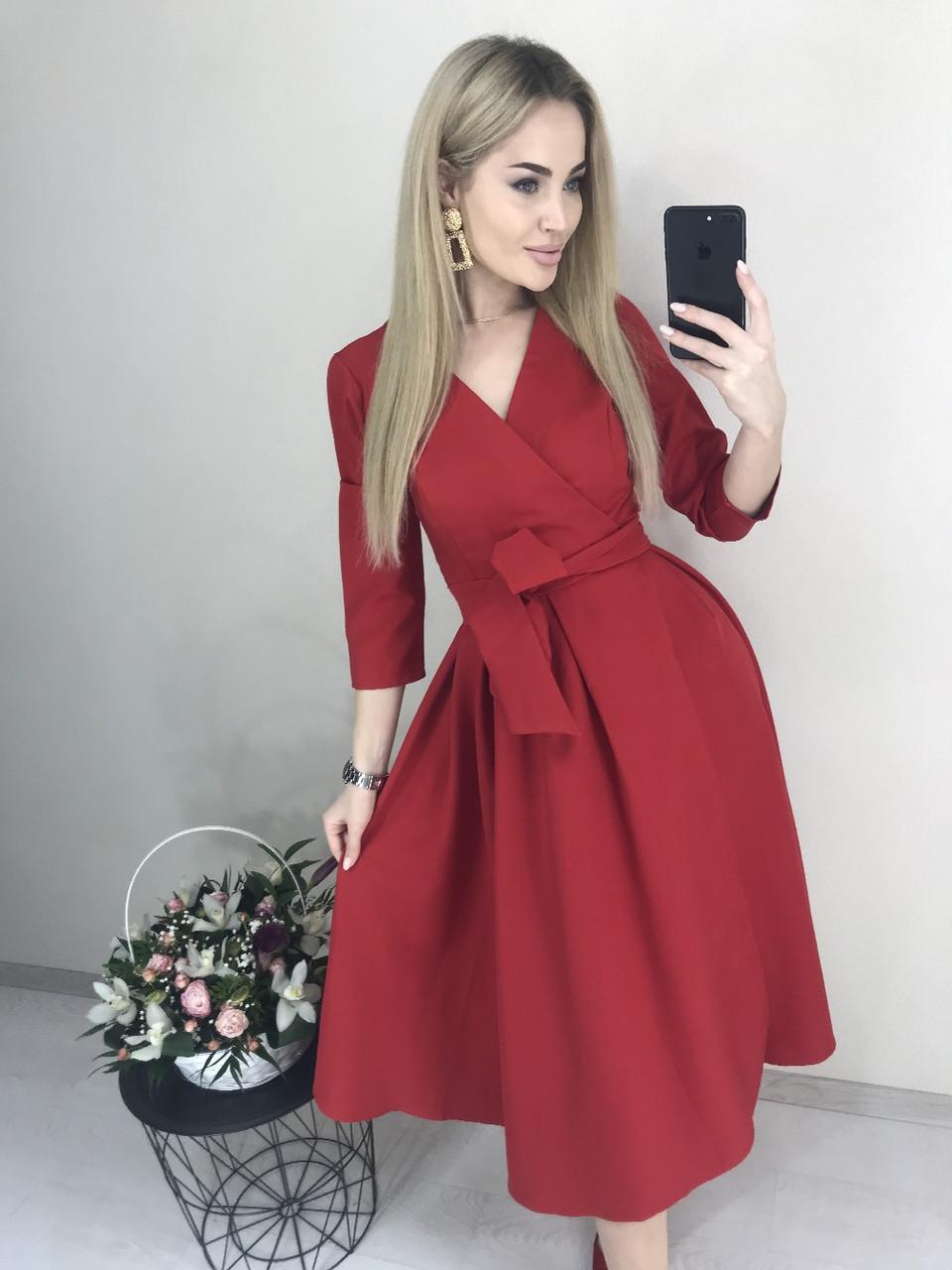57f41f7fe4b Платье на Запах Офисного Стиля — в Категории