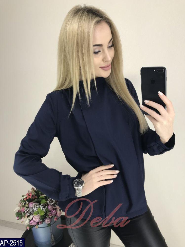 cd207d72a0f ... Женская красивая легкая однотонная блузка с длинным рукавом