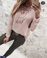e6543886d17407b Женская классная легкая весенне-осенняя рубашка с завязками,рукав длинный  (софт) 2