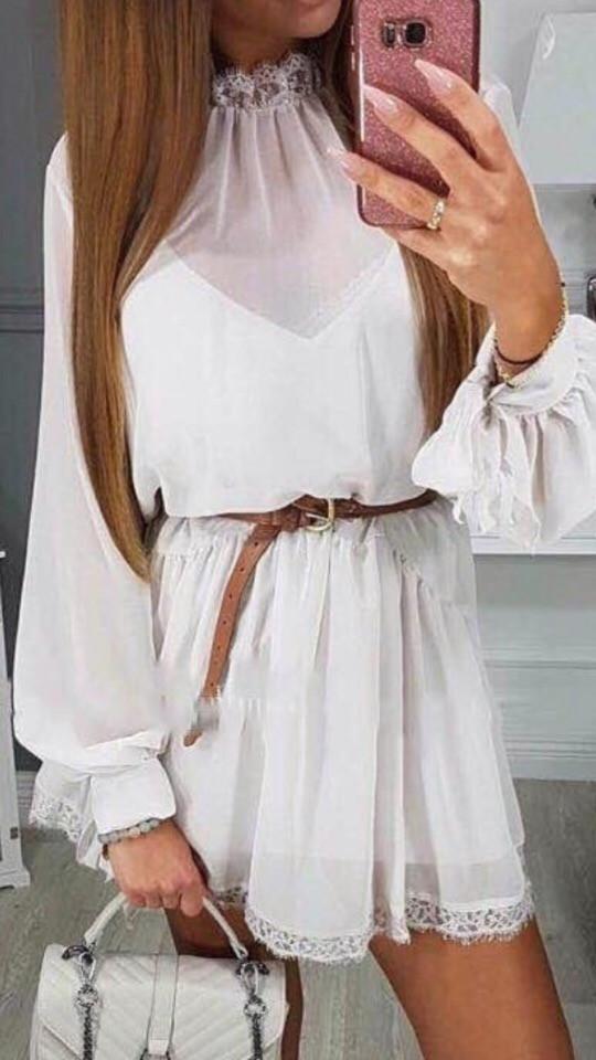 Женское лёгкое шифоновое на подкладке мини платье .