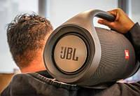 Самый большой портативный бумбокс JBL Boombox BIG серый Bluetooth USB microSD microUSB AUX с ручкой реплика