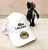 Кепка Lacoste D6038 белая