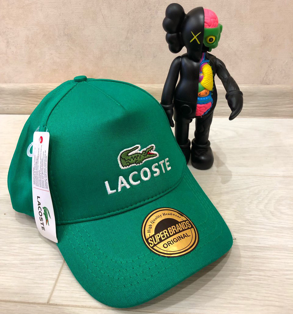 Кепка Lacoste D6040 зеленая
