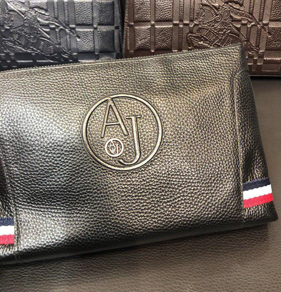 3ce81b7e1228 Клатч кожаный Armani D6216 черный - купить по лучшей цене, от ...