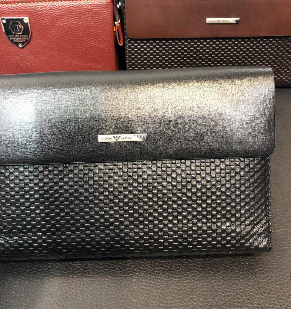 300516874689 Клатч кожаный Armani D6221 черный - купить по лучшей цене, от ...