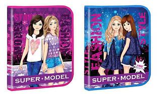 Тека для зошитів В5 на блискавці картонна Kidis SUPER MODEL