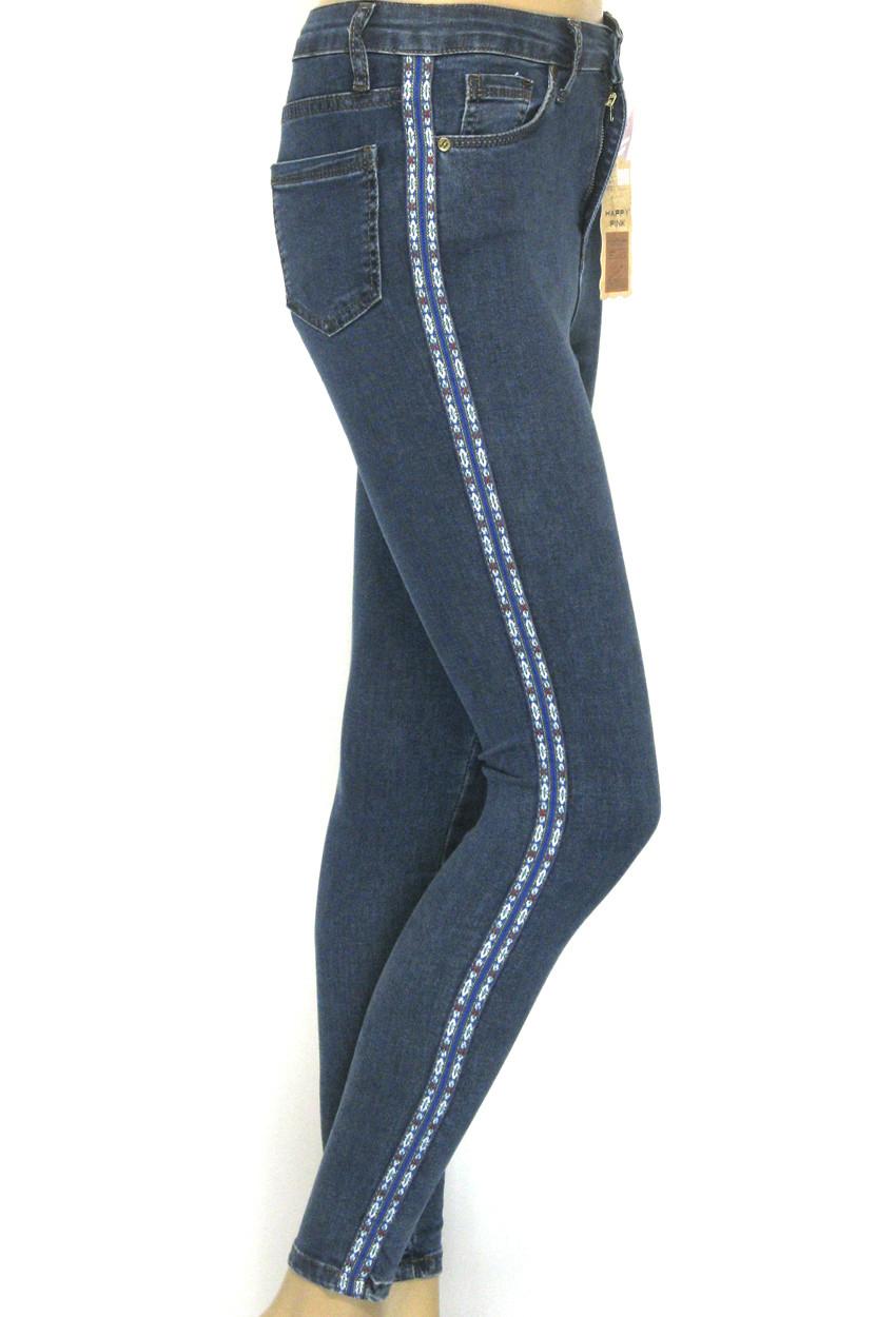 джинси з високою посадкою і лампасами