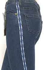 джинси з високою посадкою і лампасами, фото 3