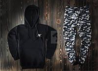 Спортивный костюм New Balance черного и камуфляжного цвета (люкс копия)