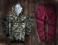 Спортивный костюм New Balance камуфляжного и бордового цвета (люкс копия)
