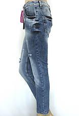 Женские джинсы бойфренды с вышивкой  Esquire, фото 2
